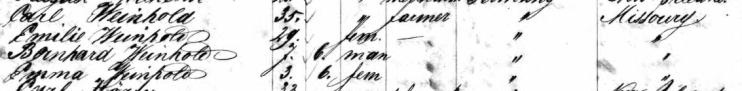 Carl Weinhold passenger list Magdalene 1860
