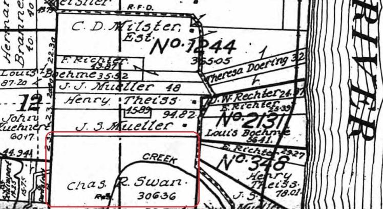 Charles Swan land map 1915