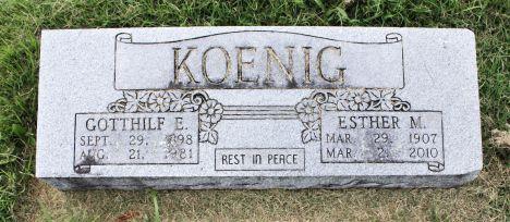 Esther Koenig gravestone Immanuel Perryville MO