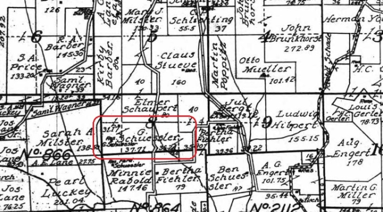 G. Schuessler land map 1915