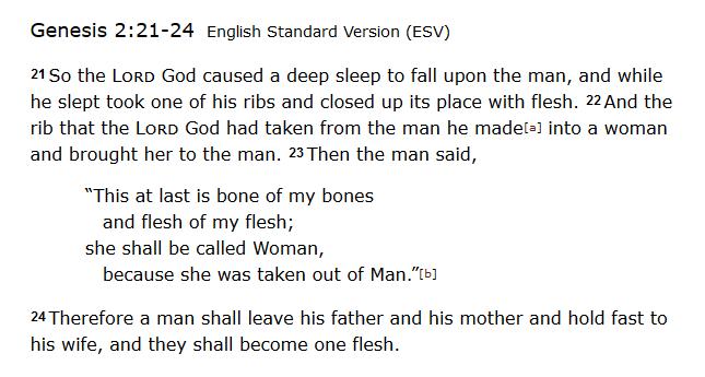 Genesis 2 passage