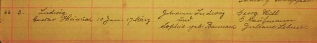 Gustav Ludwig baptism record Immanuel New Wells MO