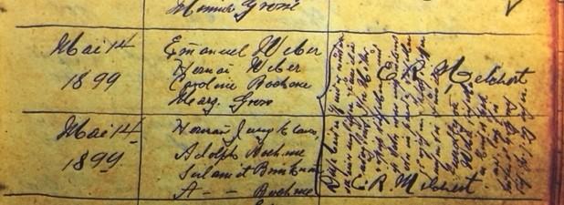 Ida Belle Weber baptism record Immanuel Altenburg MO