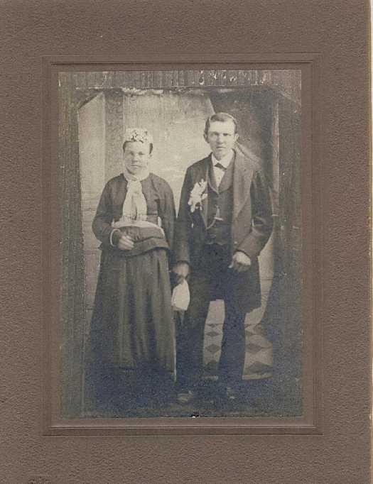 Johann and Anna Luedemann Miesner wedding