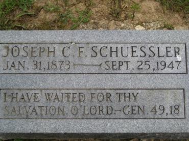Joseph Schuessler gravestone Concordia Frohna MO
