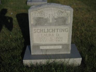 Laura Schlichting gravestone St. Paul's Wittenberg MO