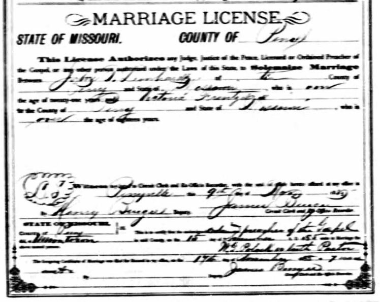 Leonhardt Frentzel marriage license