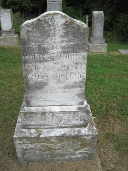Lina Schuessler gravestone Concordia Frohna MO