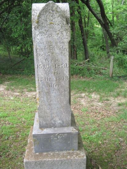 Louise Schuessler gravestone Concordia Frohna MO