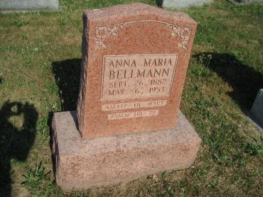 Mary Bellmann gravestone Trinity Altenburg MO