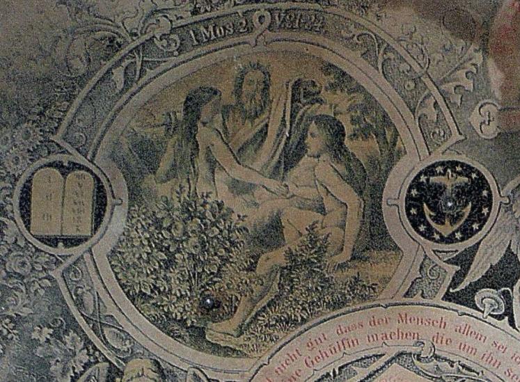 Miesner Luedemann marriage certificate Garden of Eden