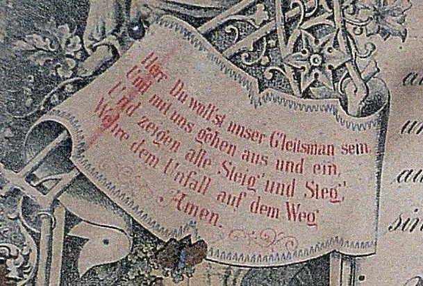 Miesner Luedemann marriage certificate prayer on left
