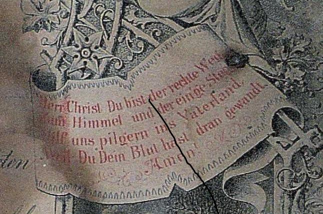 Miesner Luedemann marriage certificate prayer on right