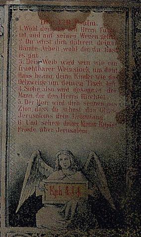 Miesner Luedemann marriage certificate Psalm 128