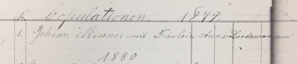 Miesner Luedemann marriage record 1 Christ Jacob IL (2)