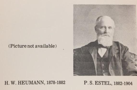 Rev. H.W. Heumann Rev. P.S. Estel Christ Jacob IL
