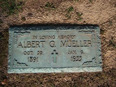 Albert G Mueller gravesite Cape County Memorial MO