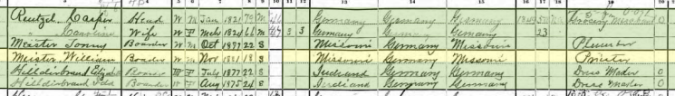 Anton Meister 1900 census Ft. Smith AR