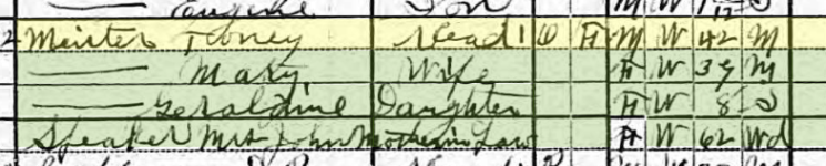 Anton Meister 1920 census Fort Smith AR