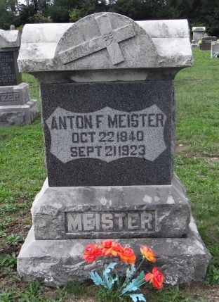 Anton Meister gravestone St. John's, Purdy, MO