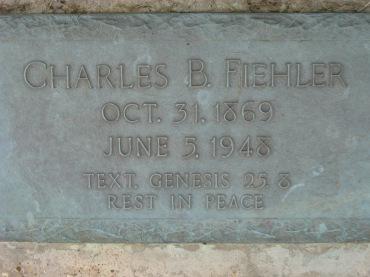 Charles Fiehler gravestone Concordia Frohna MO