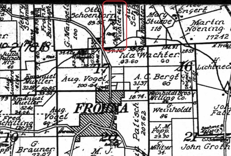 Charles Fiehler land map 1915