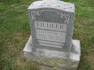 Clothilde Fiehler gravestone Concordia Frohna MO