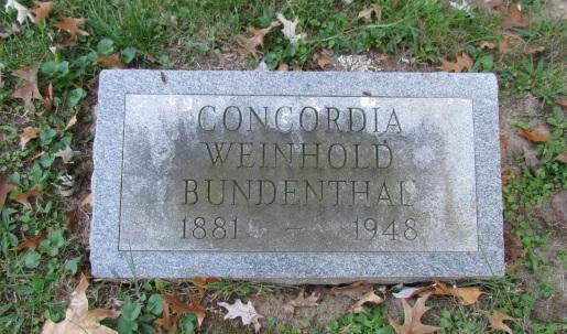 Concordia Bundenthal gravestone Concordia, St. Louis, MO