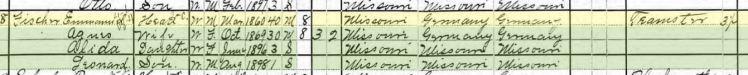 Emmanuel David Fischer 1900 census Altenburg MO