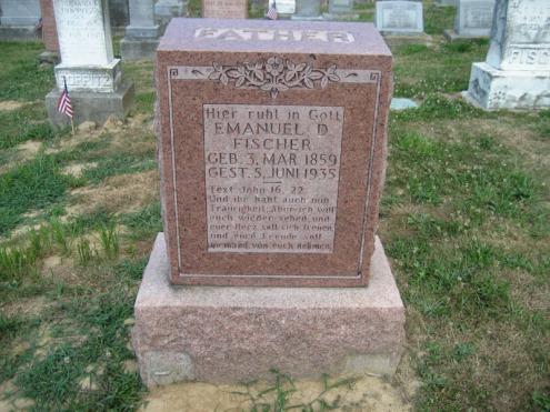Emmanuel Fischer gravestone Trinity Altenburg MO