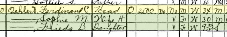 Ferdinand Oehlert 1930 census Brazeau Township MO
