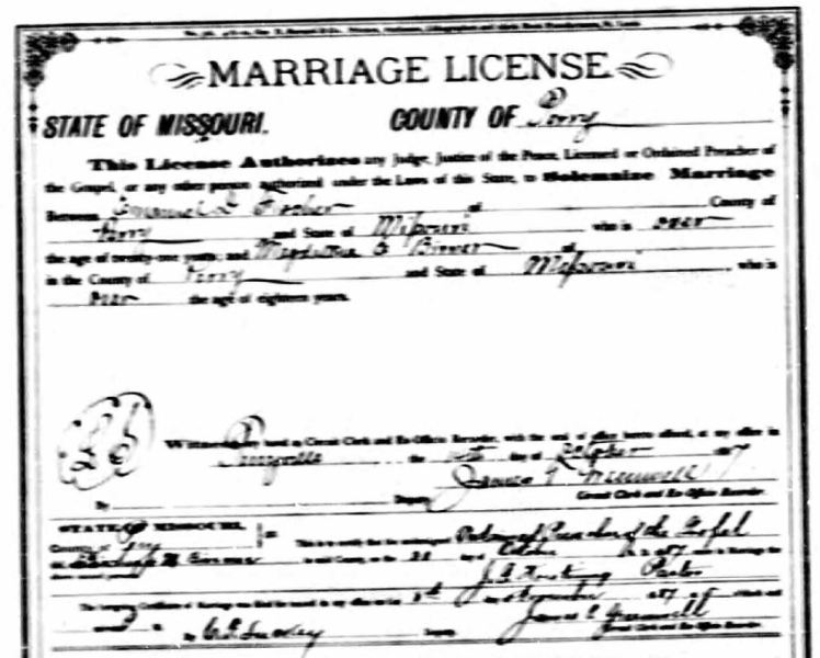 Fischer Birner marriage license