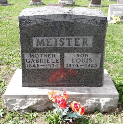 Gabriele Meister gravestone St. John's Purdy MO
