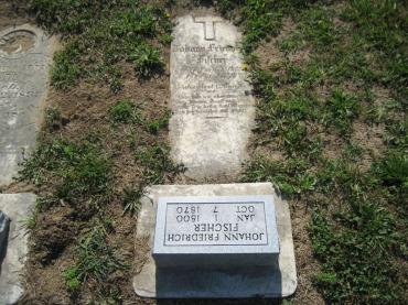 Johann Friedrich Fischer gravestone Trinity Altenburg MO