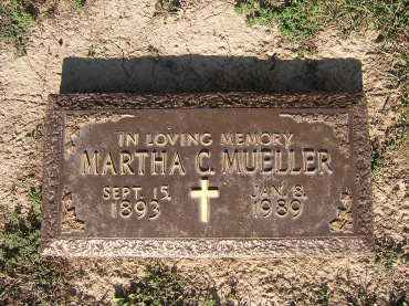 Martha Mueller gravestone Cape County Memorial MO