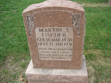 Martin Fischer gravestone Concordia Frohna MO