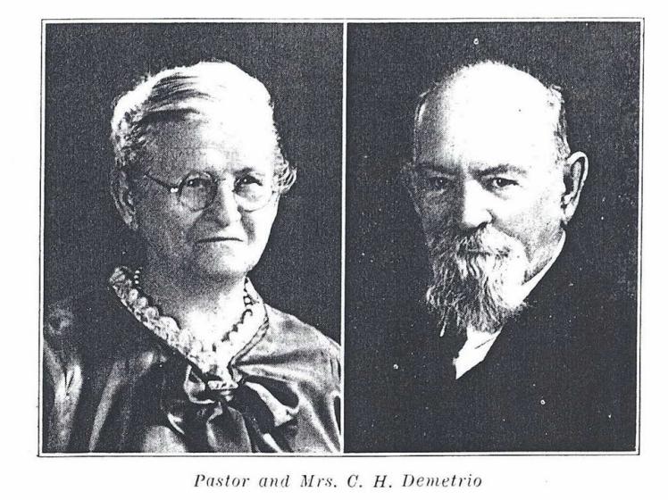 Rev. C.H. and Emma Demetrio