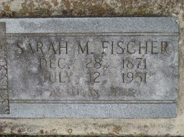 Sarah Fischer gravestone Concordia Frohna MO
