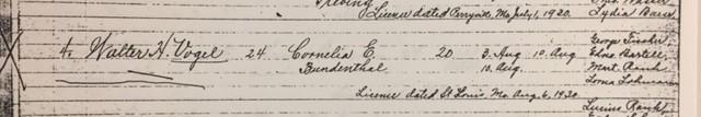 Vogel Bundenthal marriage record Trinity Altenburg MO