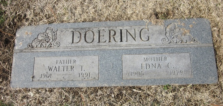 Walter and Edna Doering gravestone Lakewood Park St. Louis MO