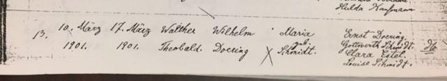 Walter Doering baptism record Trinity Altenburg MO