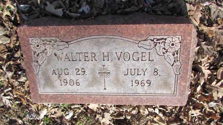 Walter Vogel gravestone New Bethlehem St. Louis MO