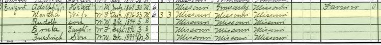 Adolph Engert 1900 census Brazeau Township MO