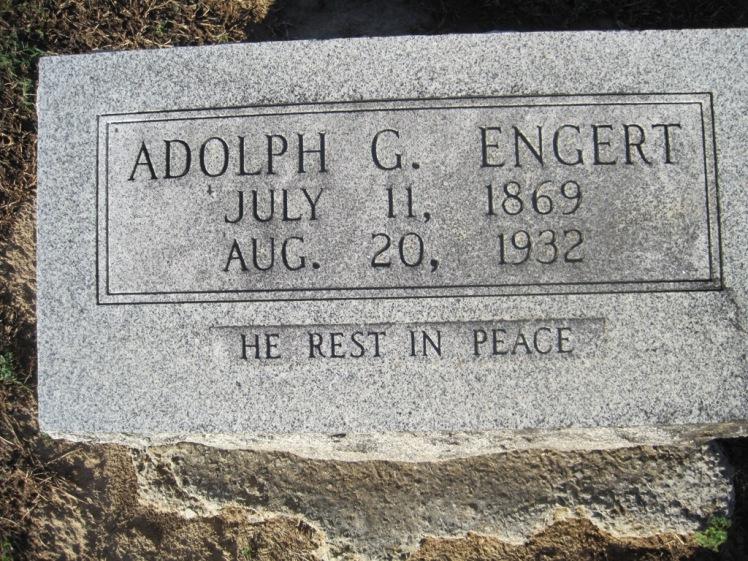 Adolph Engert gravestone Immanuel Altenburg MO