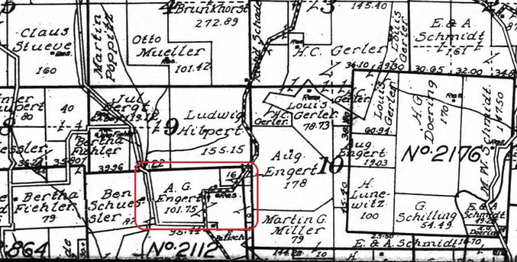 Adolph Engert land map 1915