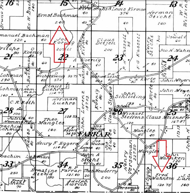 Bachmann and Mahnken land map 1915