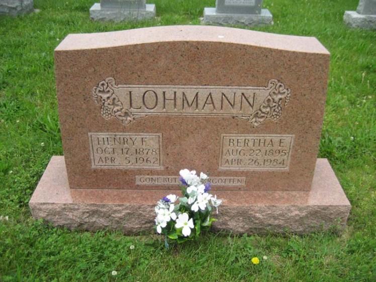 Bertha Roth Lohmann gravestone Immanuel Perryville MO