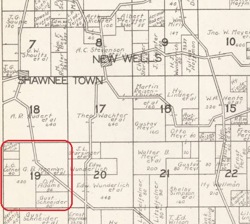 Gustav Hemmann land map Shawneetown