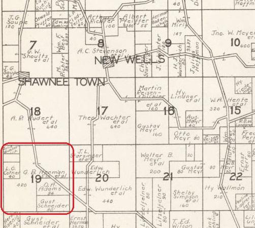 Gustav Hemmann land map Shawneetown