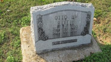 Otto Roth gravestone Trinity Shawneetown MO